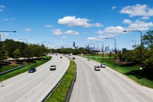 Lakeshore Drive and Chicago Skyline